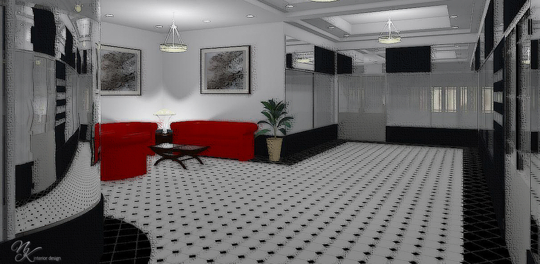 эскиз холла офисного центра